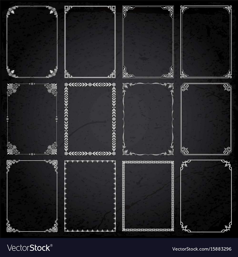Decorative frames and borders rectangle
