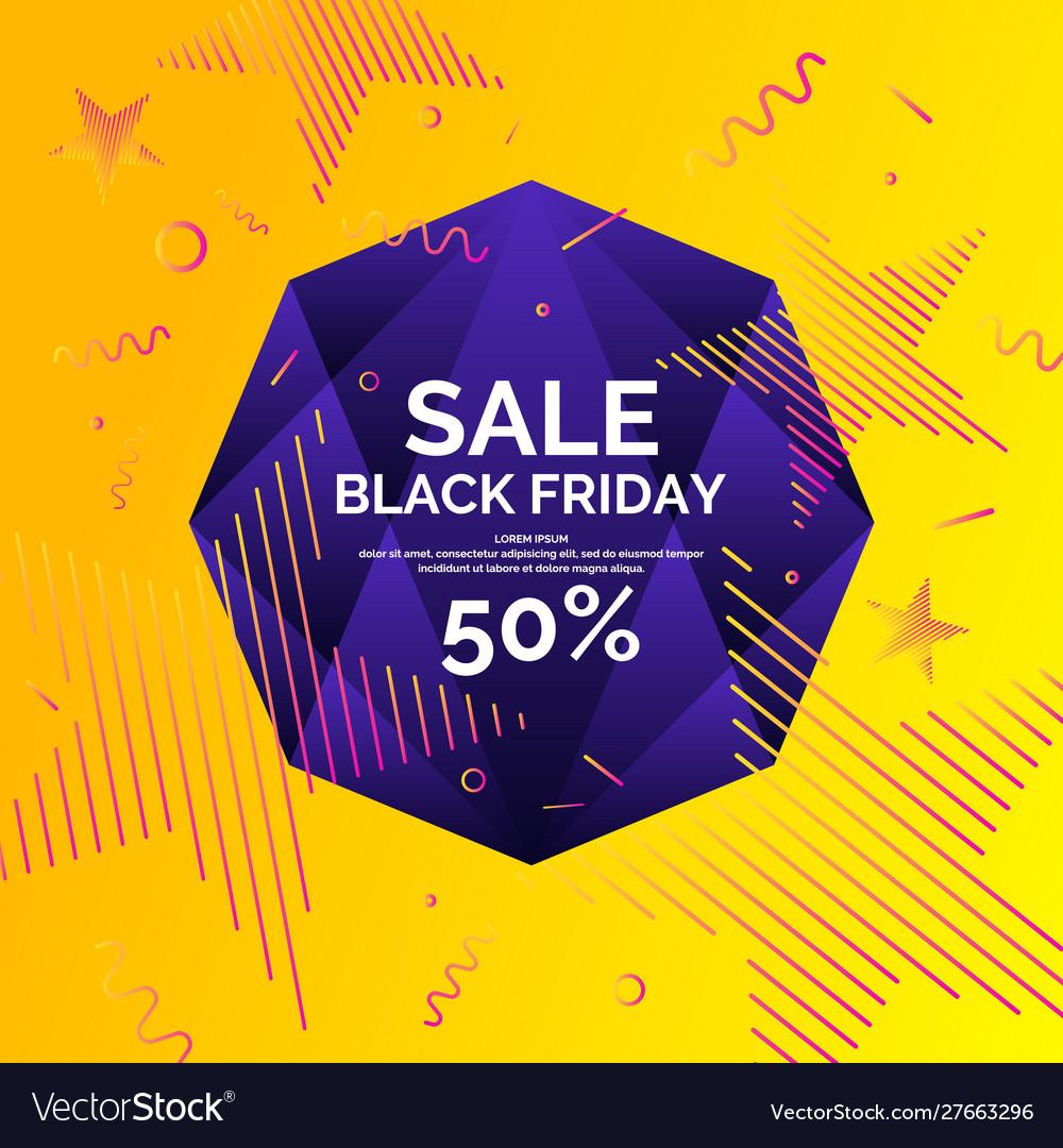 Original sale poster for black friday sale