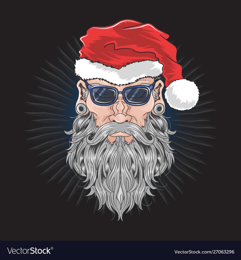 Santa claus christmas beard barber man