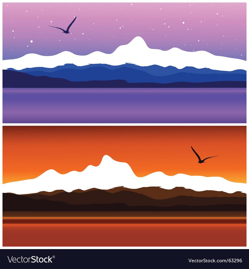 Sea landscape vector image