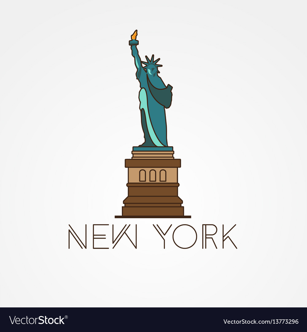 Statue of liberty - the symbol of us new york