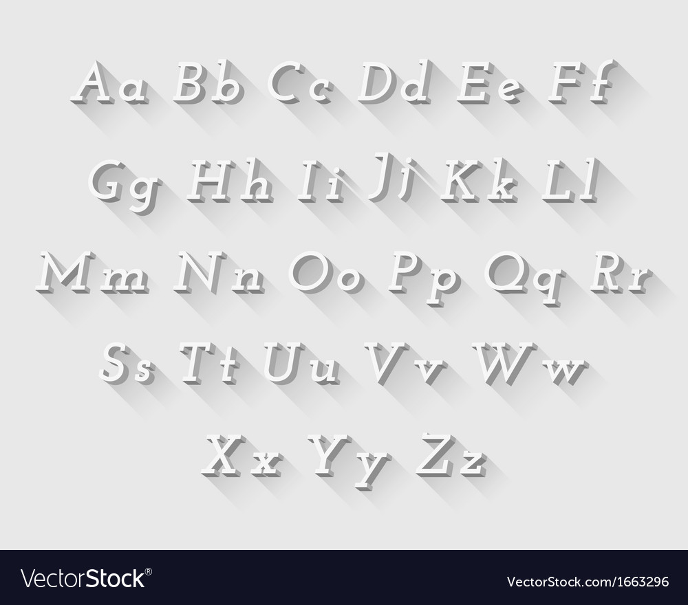 White font vector image