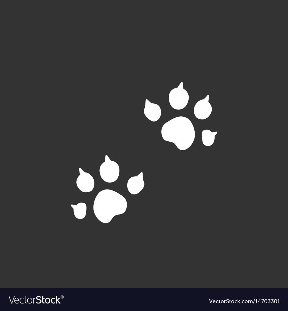 Animal trail logo icon on black background