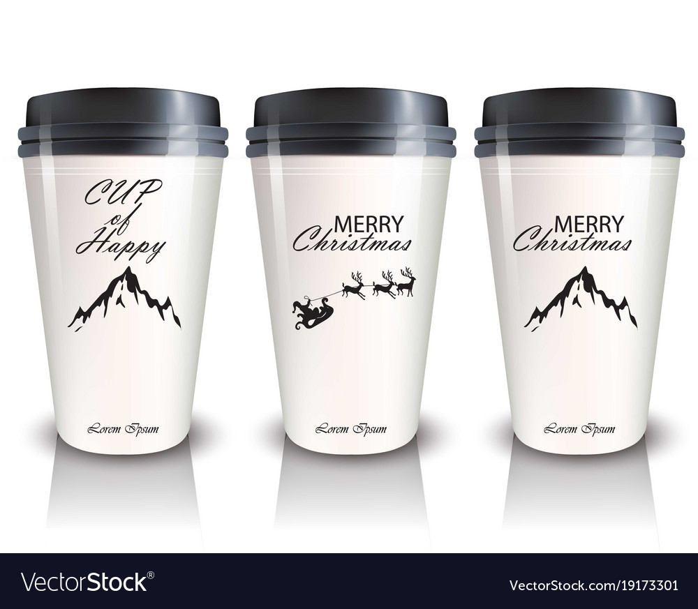 Coffee cups to go realistic mock up