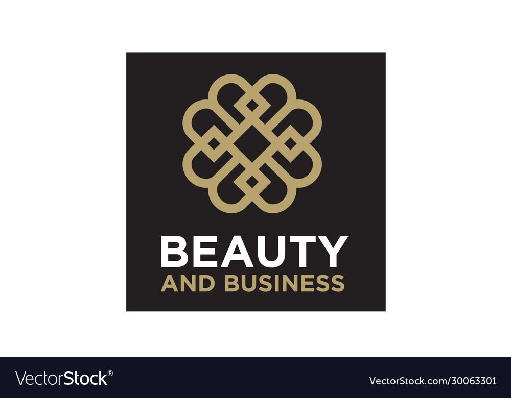 Elegant luxury pattern motif initials bb logo