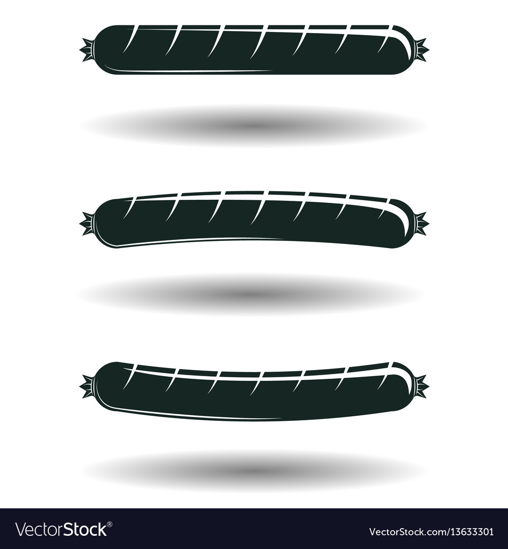 Grilled sausage signs vector image