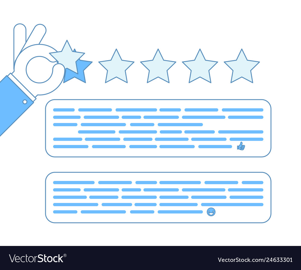 Internet star rating review customer experience