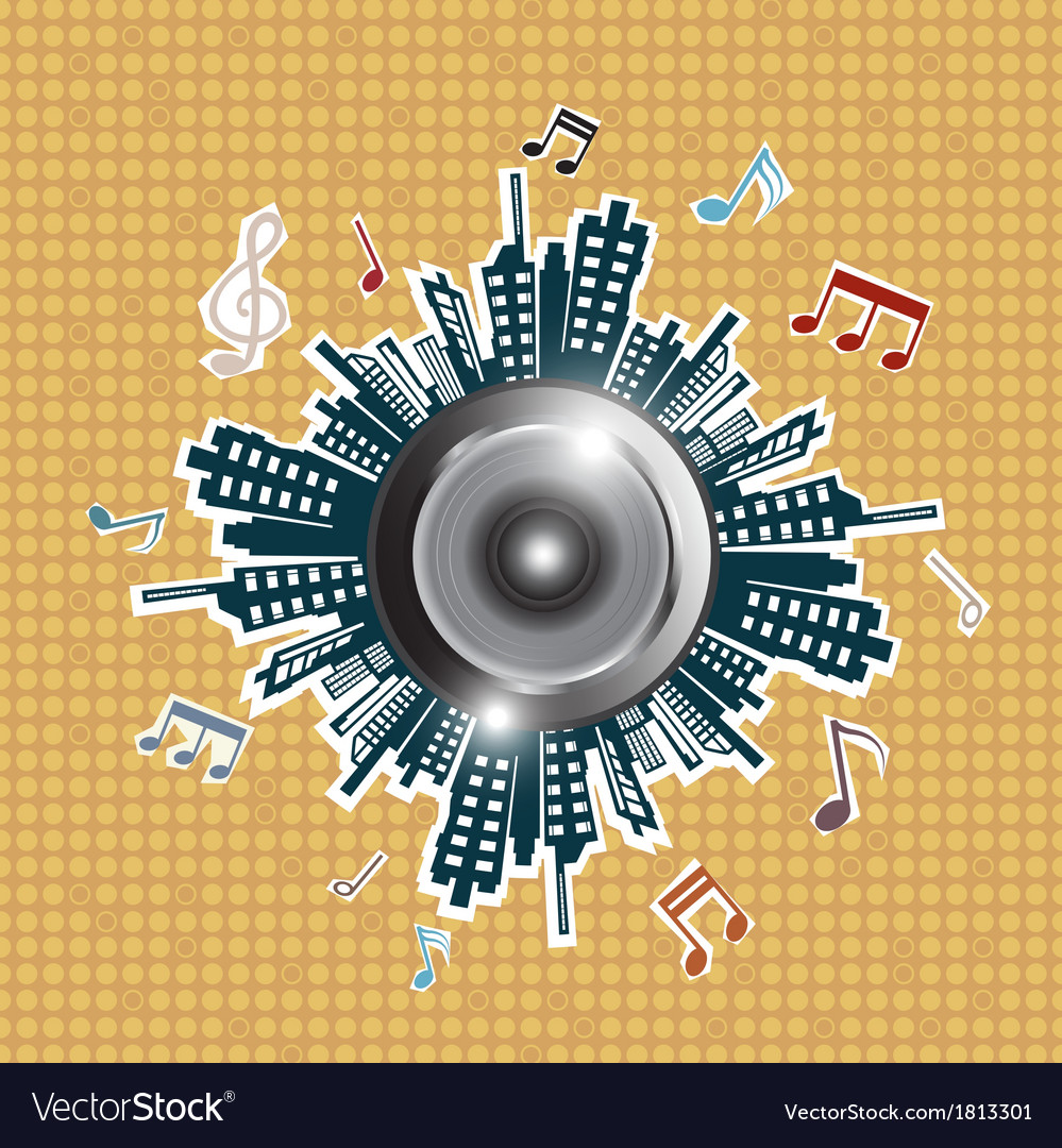 Music in the city vector image