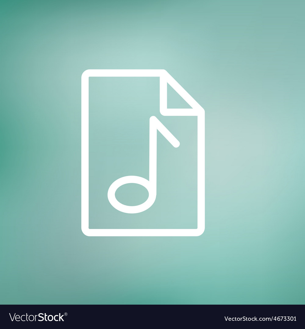 Origami musical note in a paper thin line icon vector image