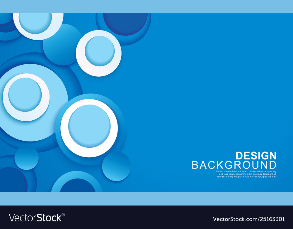 Paper layer circle blue abstract background