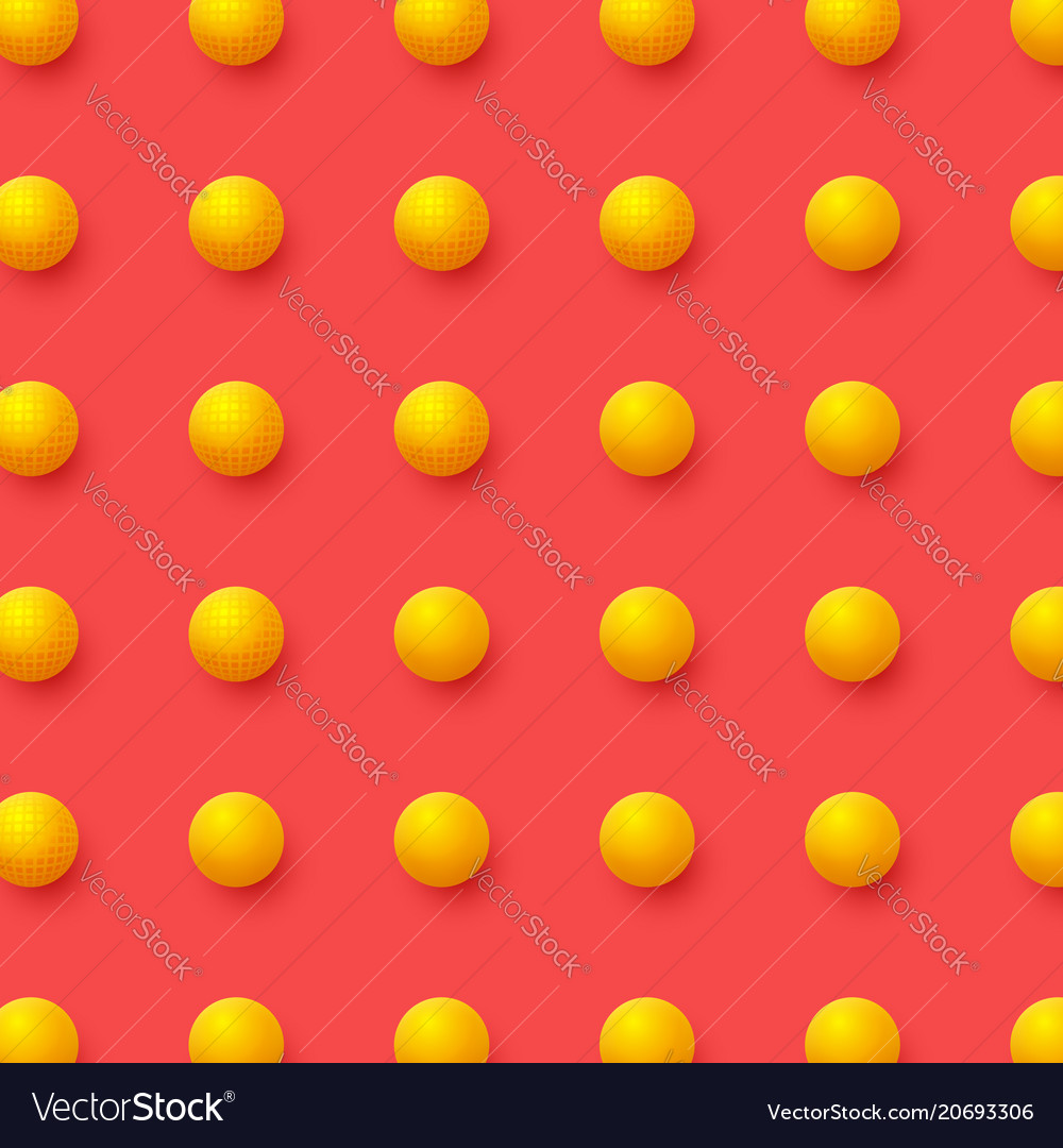 3d yellow balls on red background abstract
