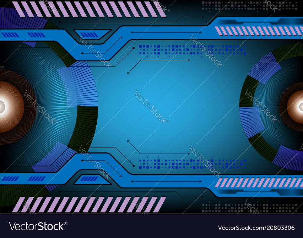 Blue color abstract background technology concept