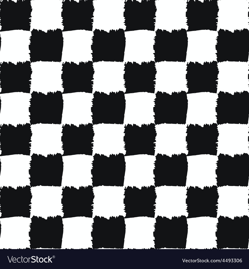 Check Black and White Seamless Pattern vector image
