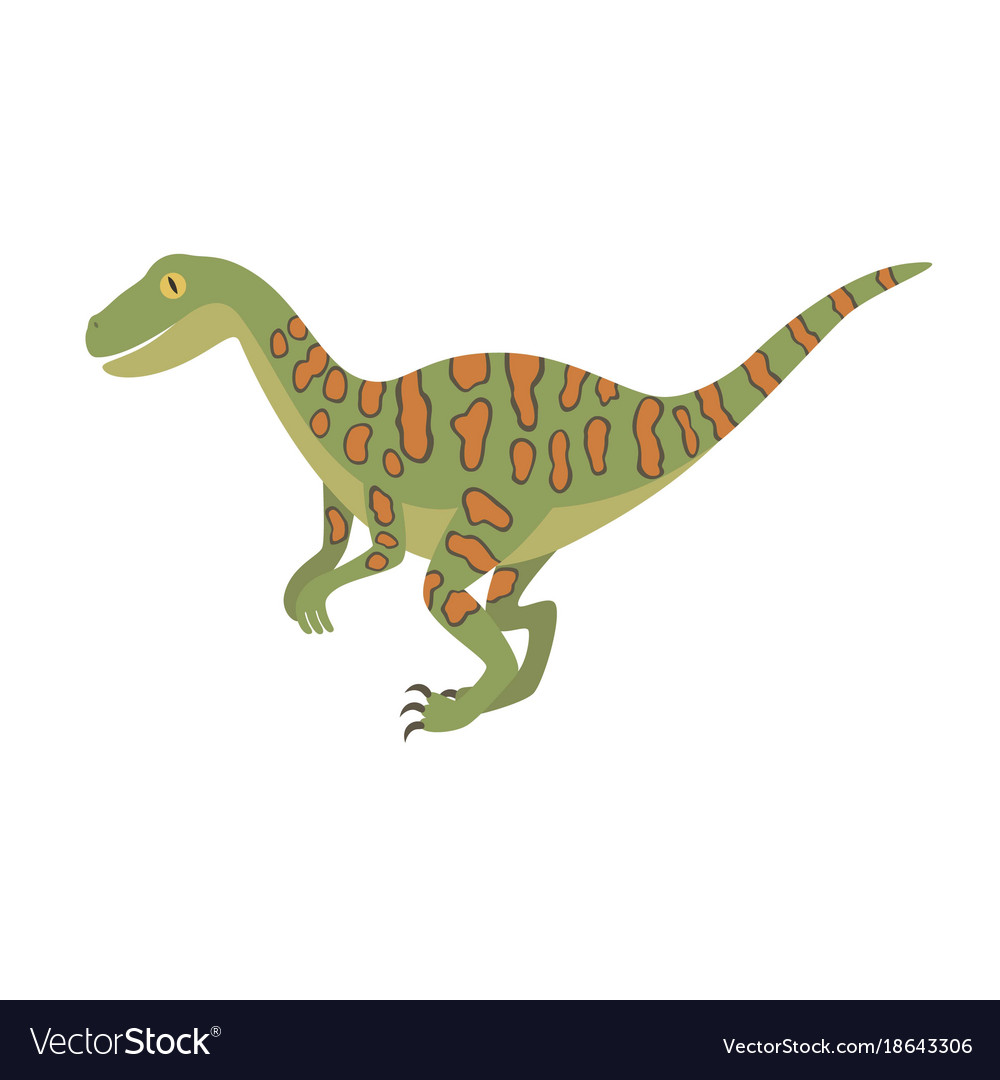 Deinonychus dinosaur color dino design
