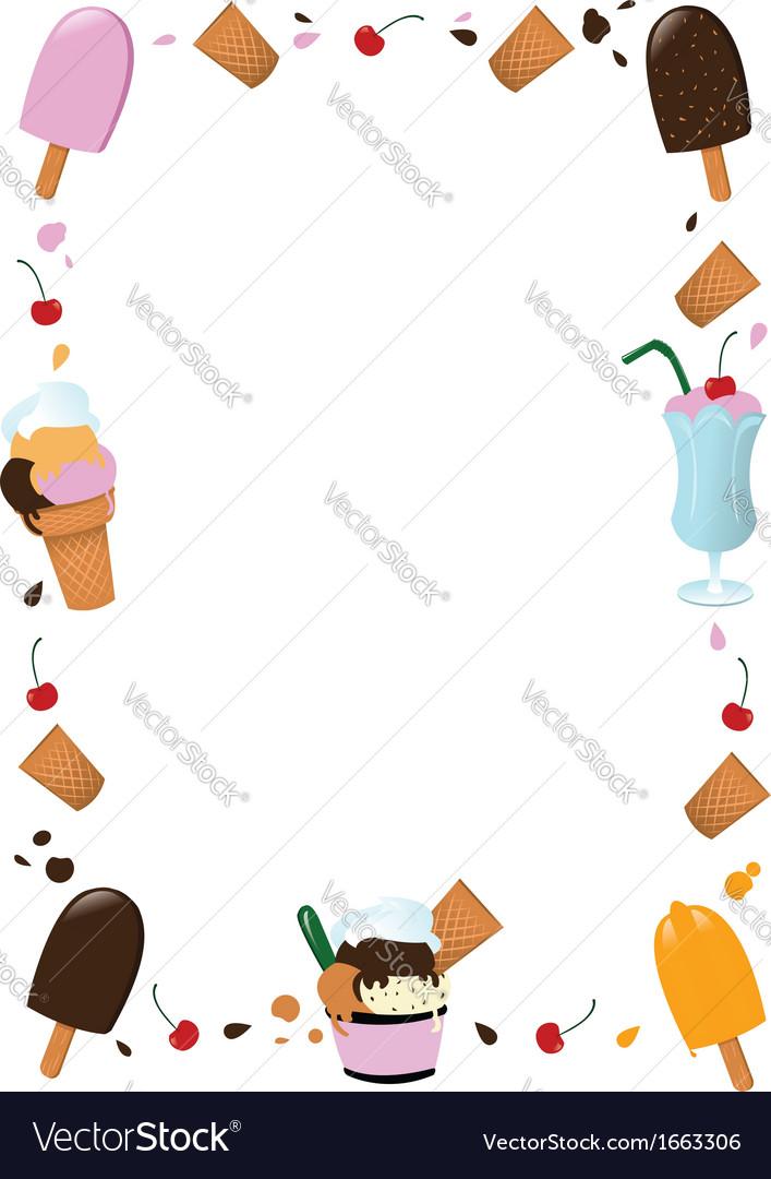Ice Cream Frame Royalty Free Vector Image - VectorStock