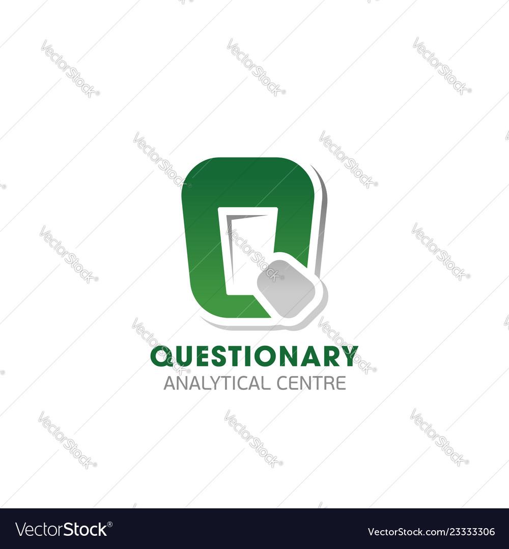 Questionary analytical center emblem