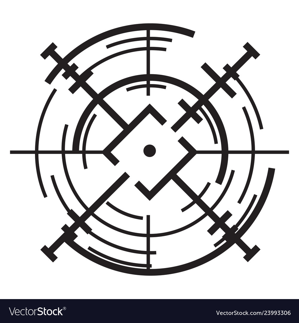 scope aim icon simple style royalty free vector image vectorstock