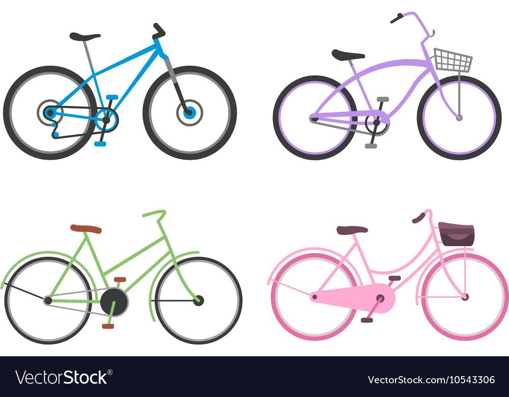 Vintage bicycle flat vector image