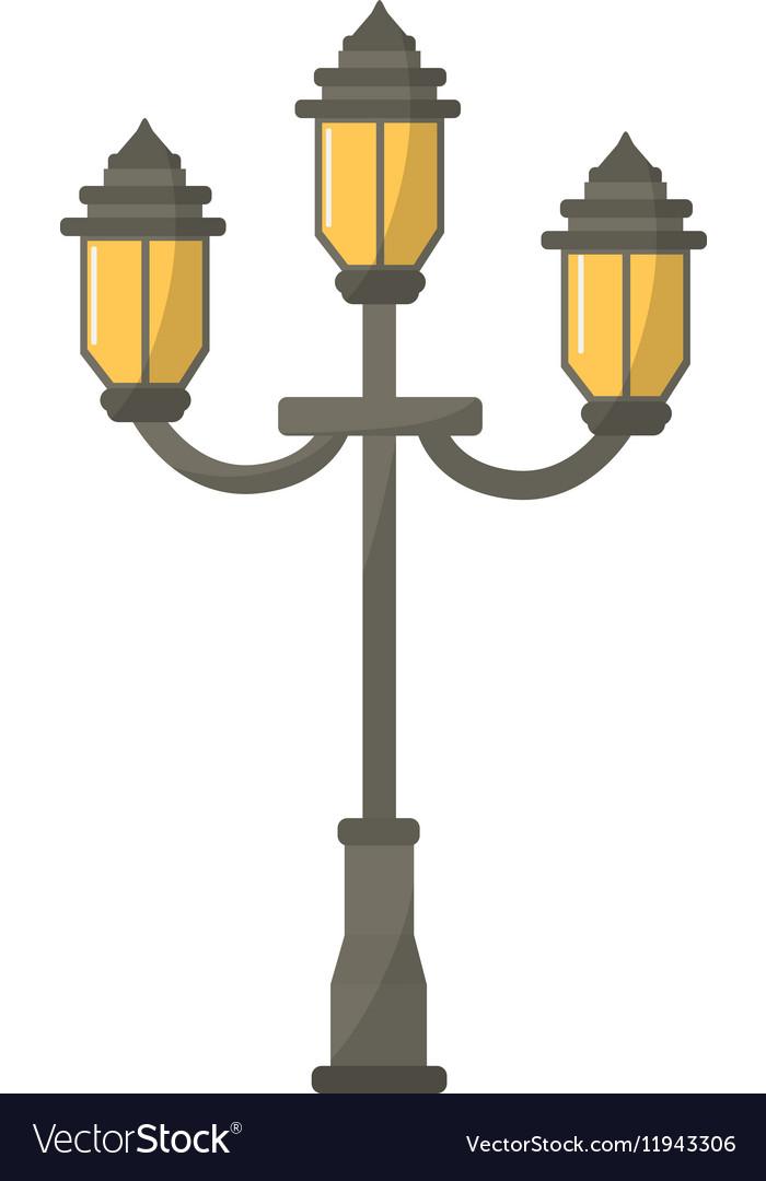 vintage street lamp royalty free vector image vectorstock