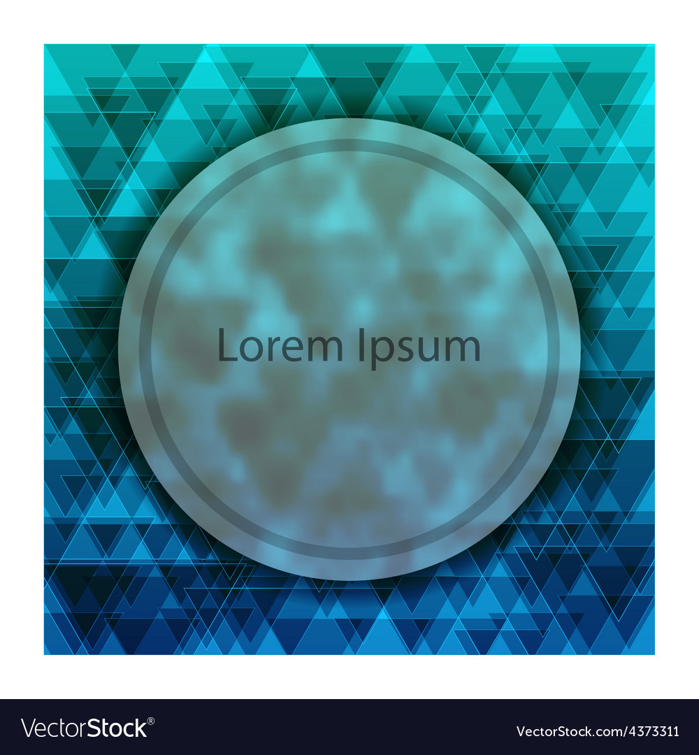 Abstract background for design with frosted glass vector image