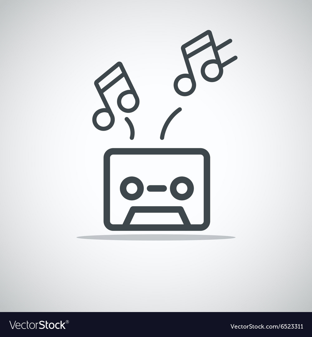 Modern media web icon Audio cassette