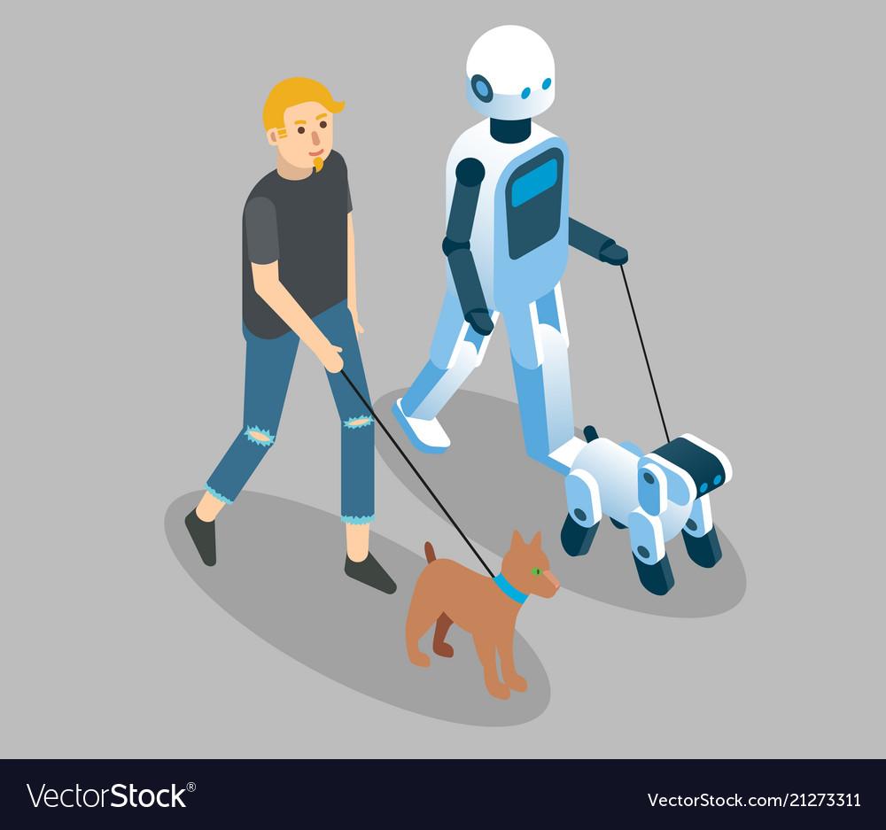Robots concept isometric