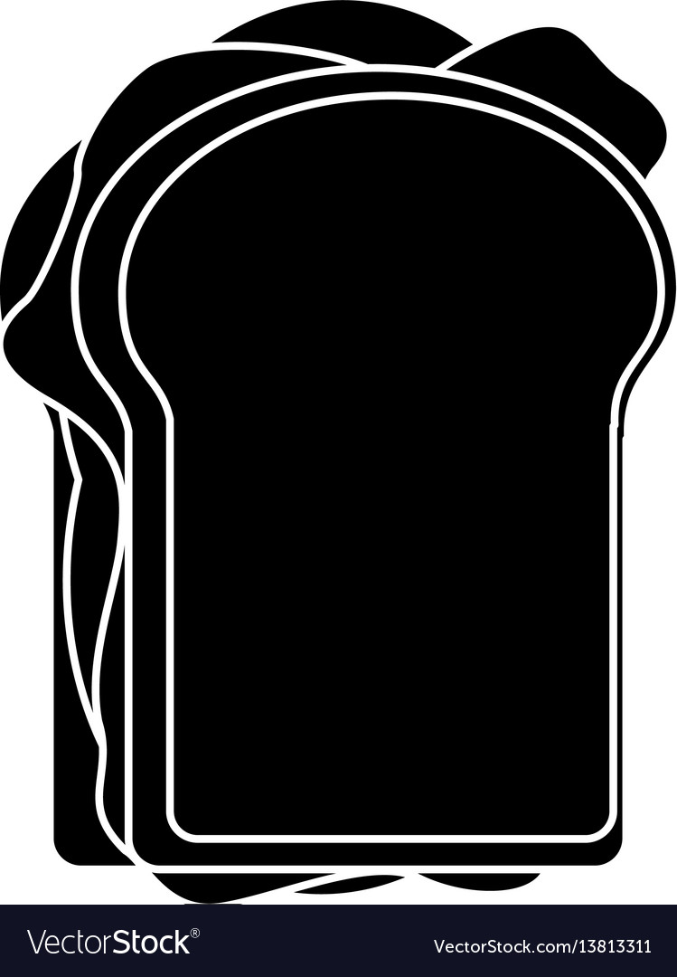 Sandwich tasty food pictogram