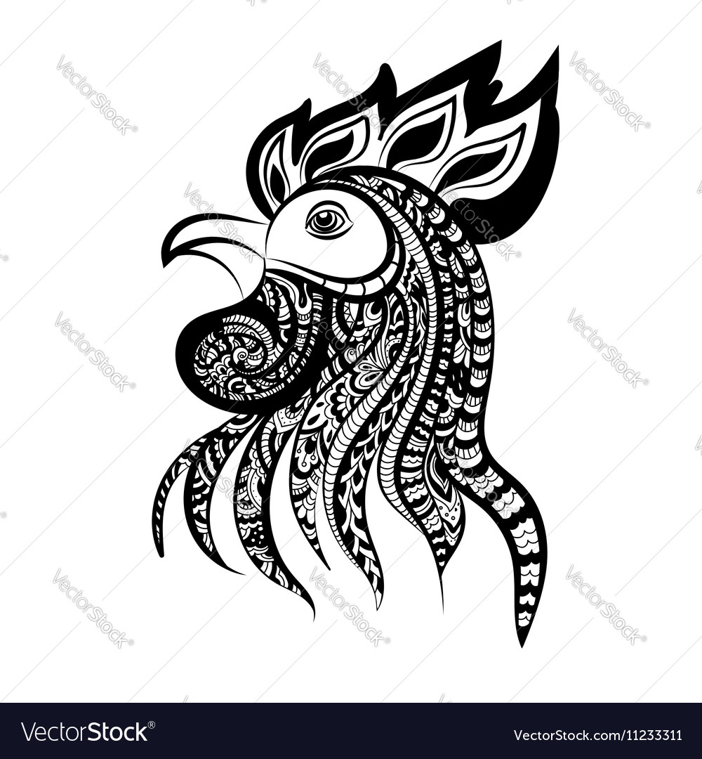Silhouette of the cock head Cock Symbol of New