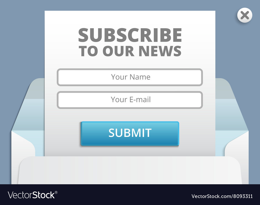 Subscribe to newsletter web and app form