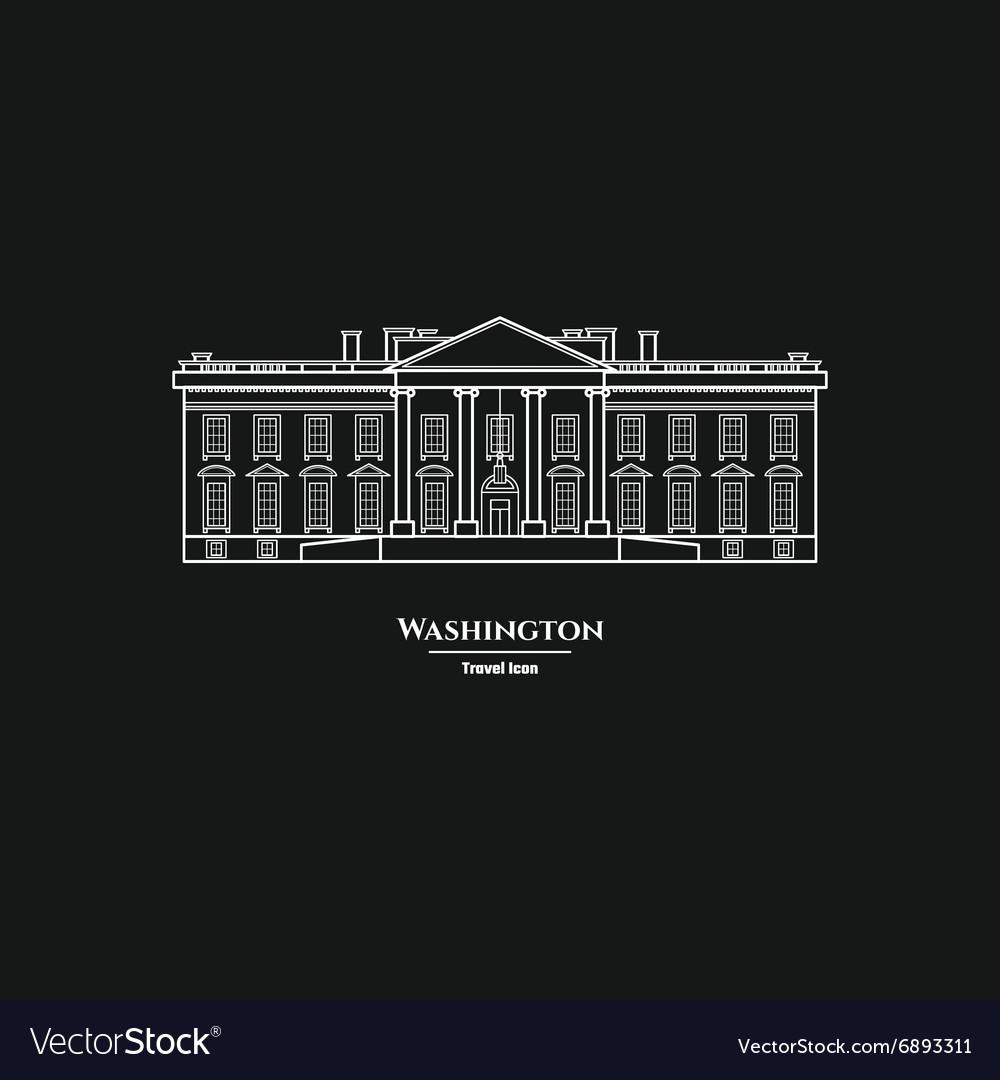 Washington United States White House Icon 1
