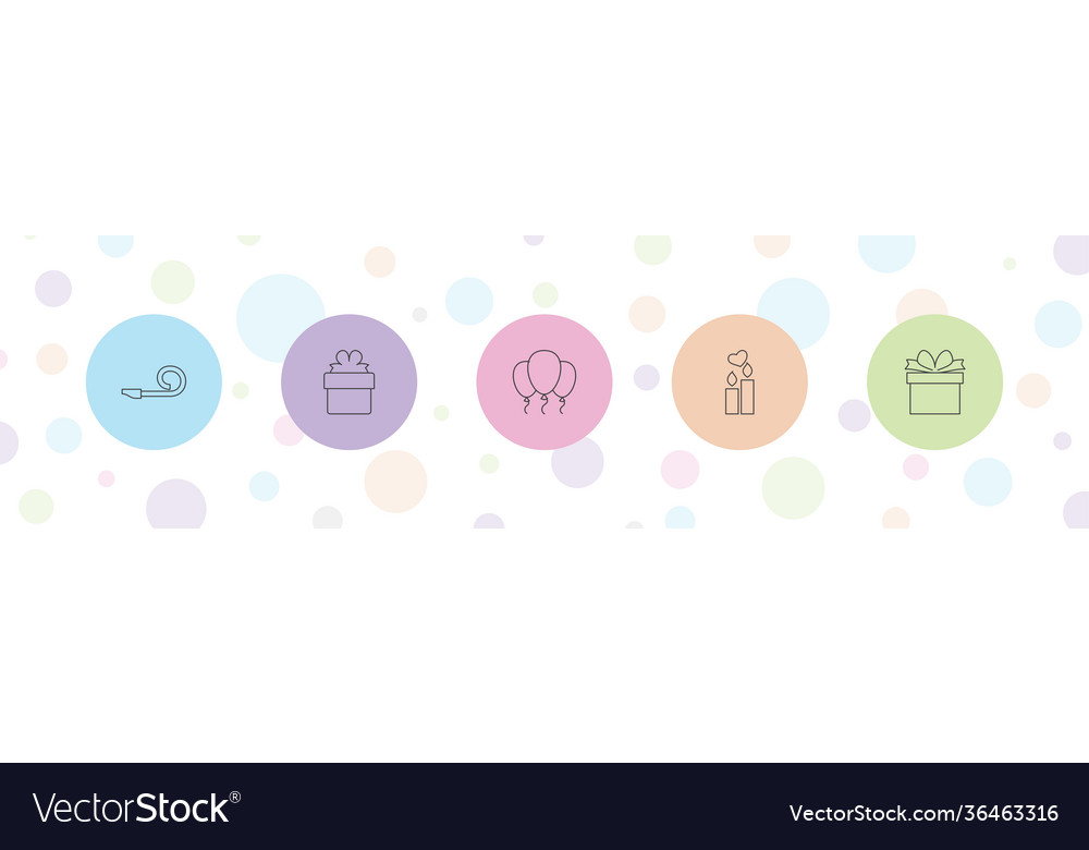 5 birthday icons