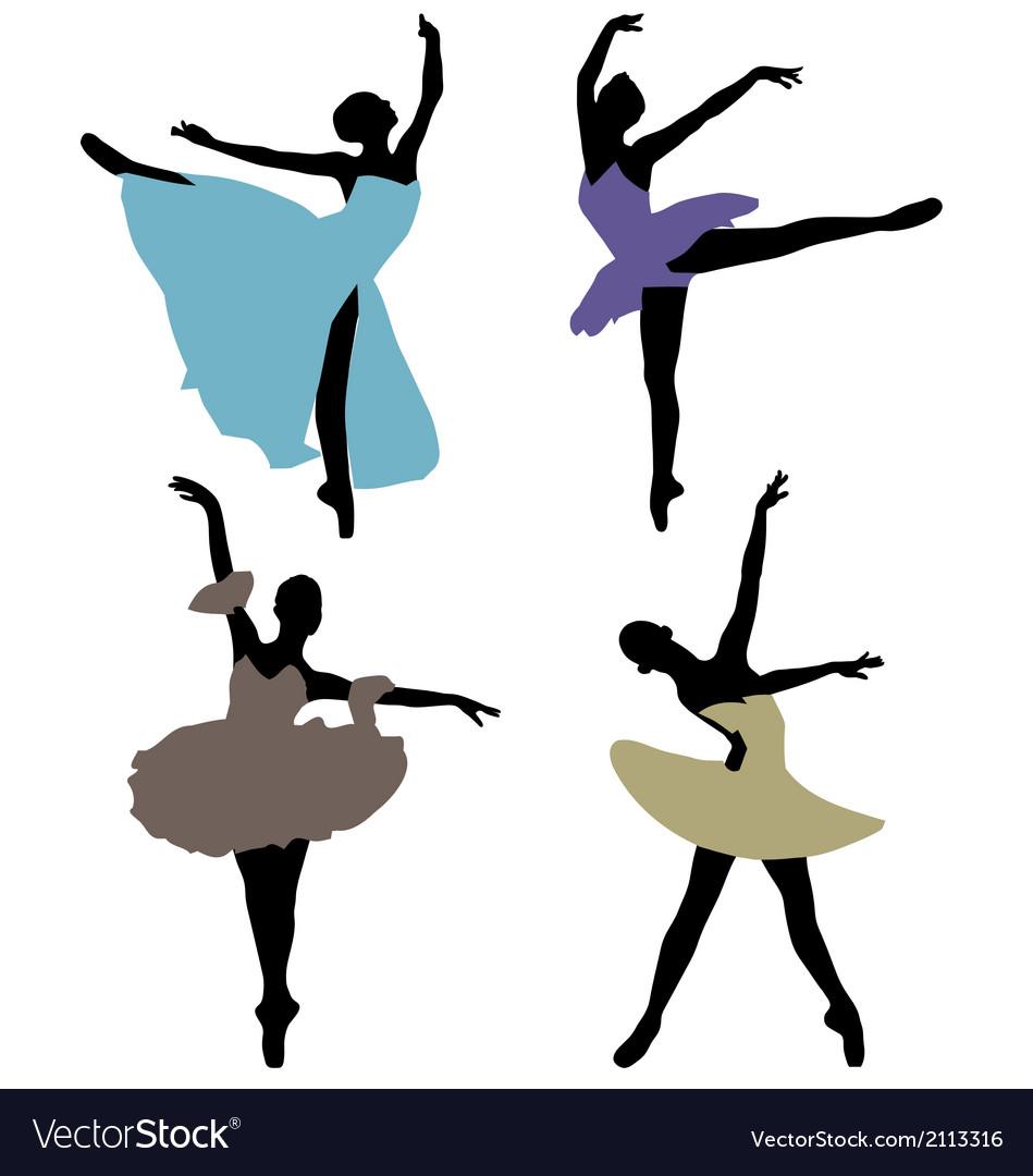 Ballerinas 2 vector image
