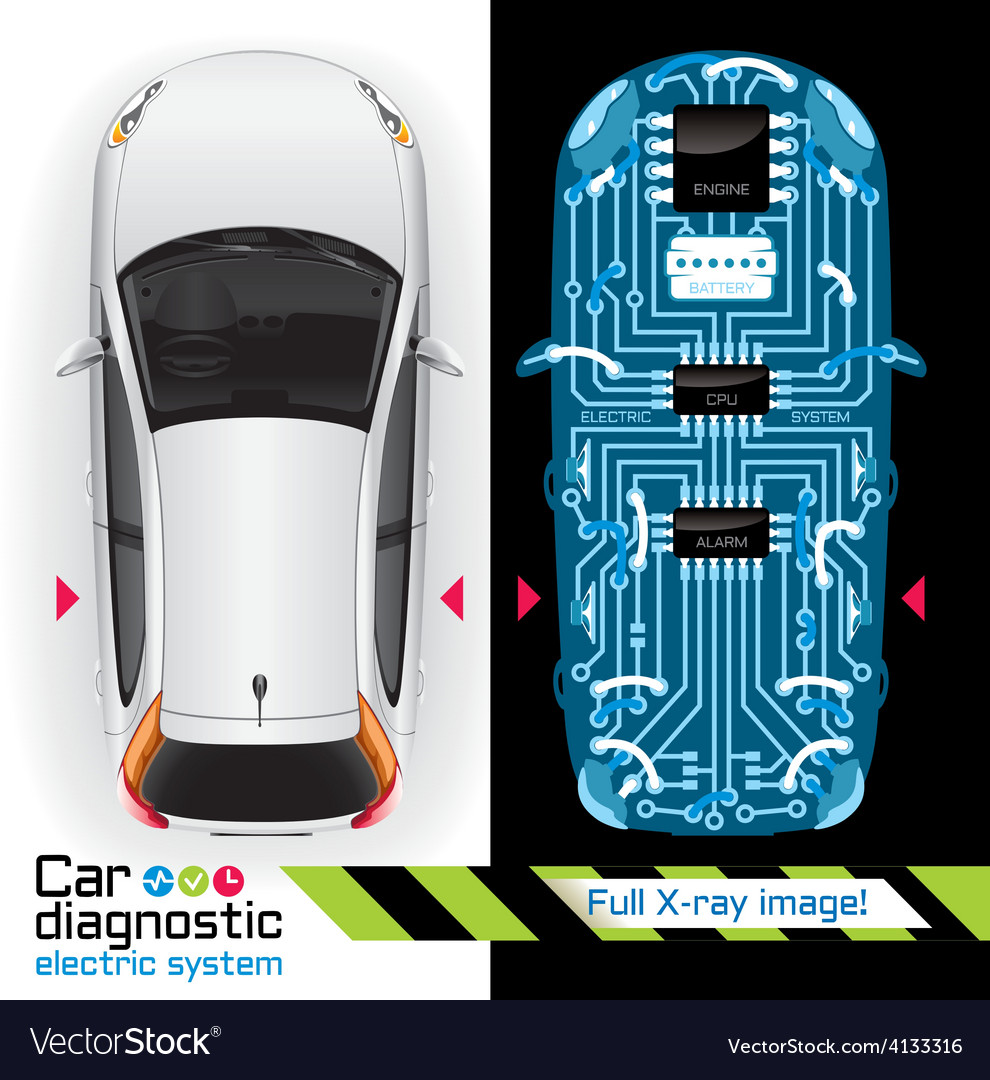 Car Diagnostic of Electric System Full X ray