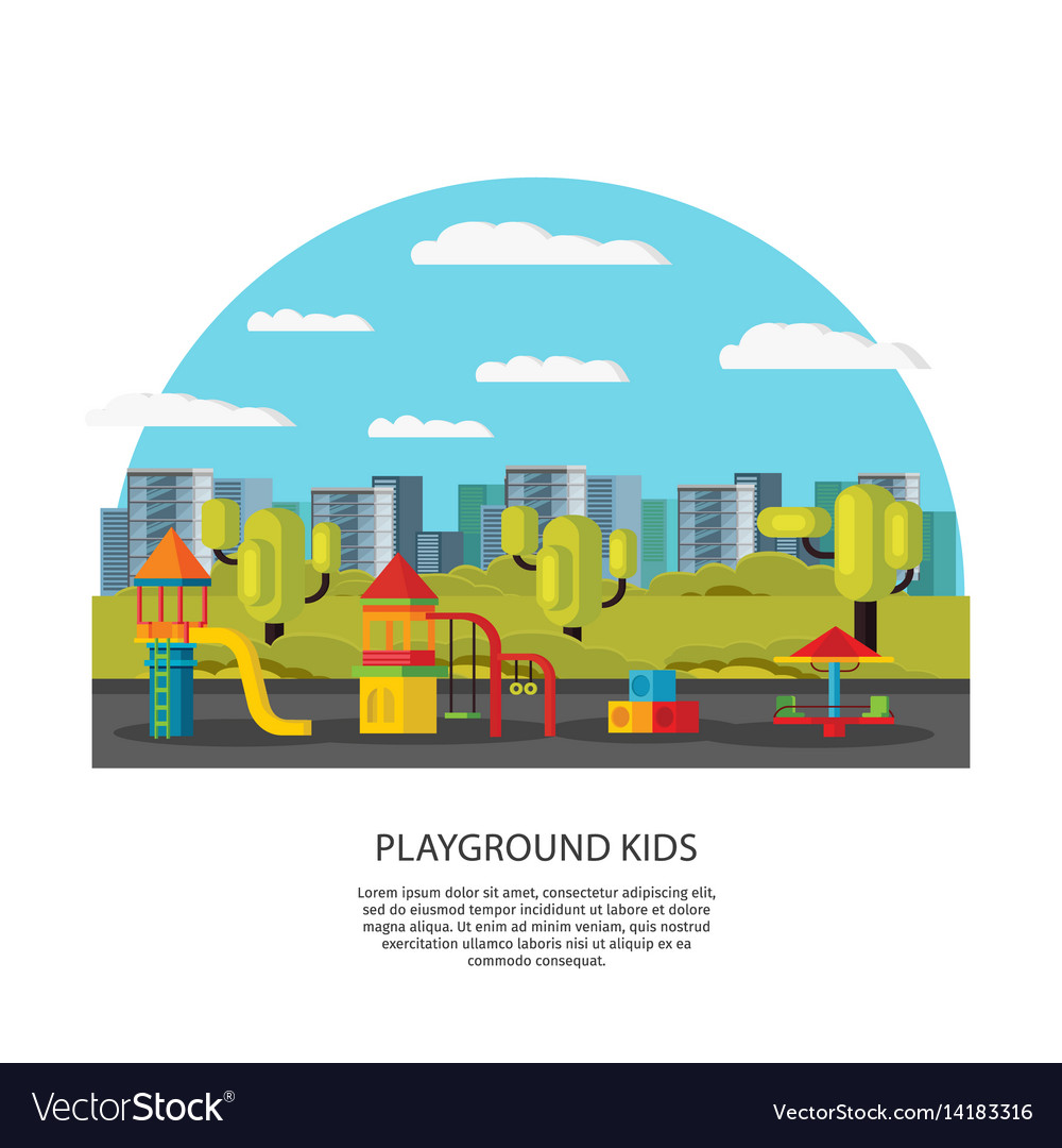 Kids amusement and entertainment concept vector image