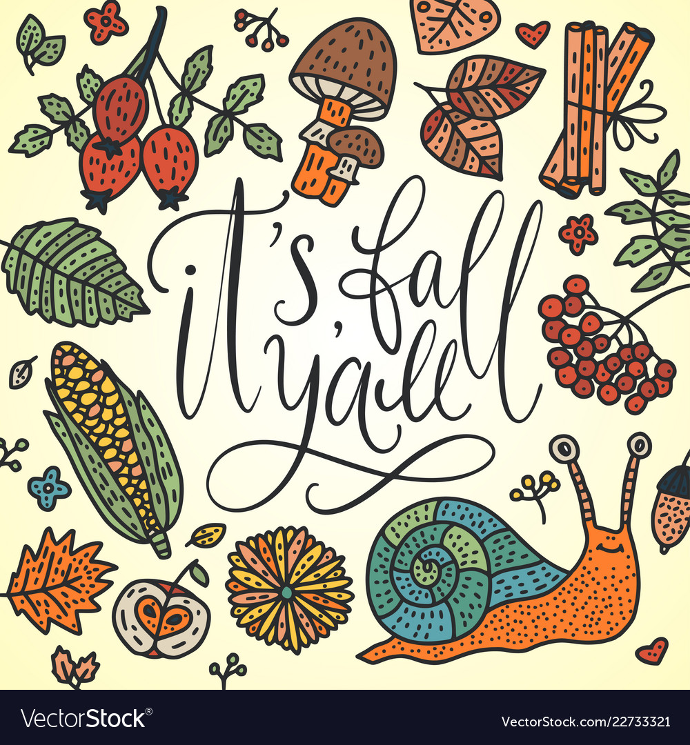 Autumn lettering card