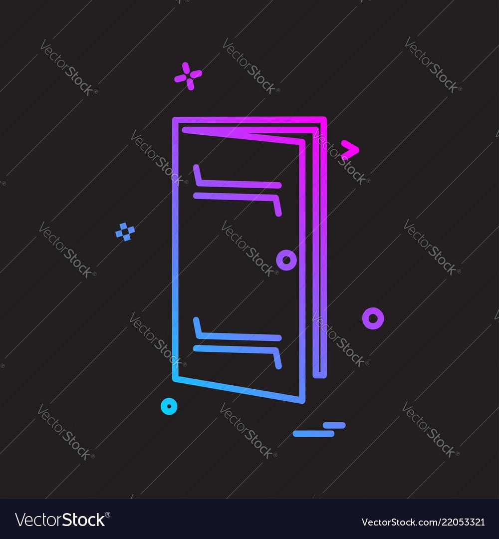 Door icon design Royalty Free Vector Image - VectorStock