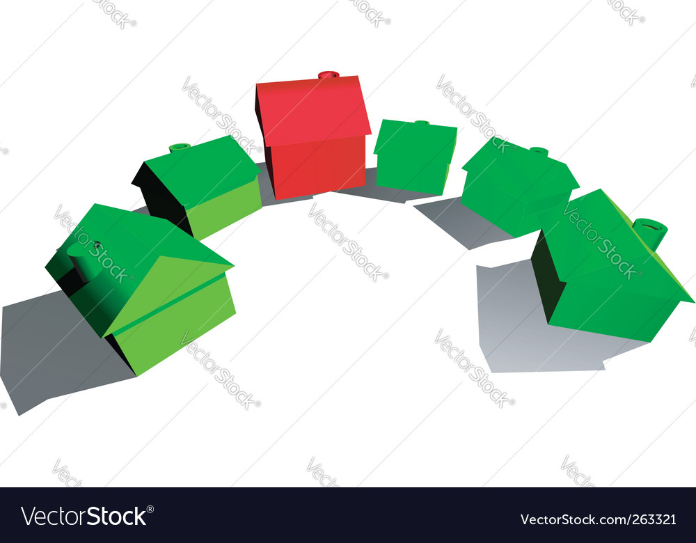 Hotel and houses vector image