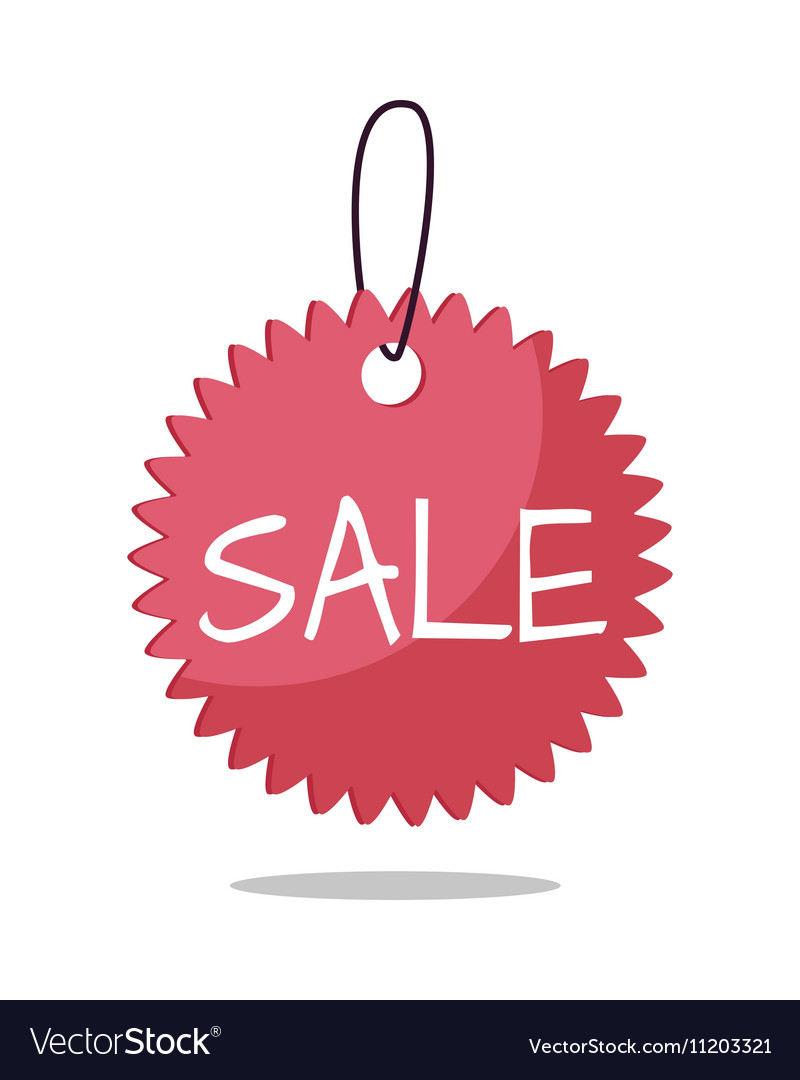 Sale Tag in Flat Design