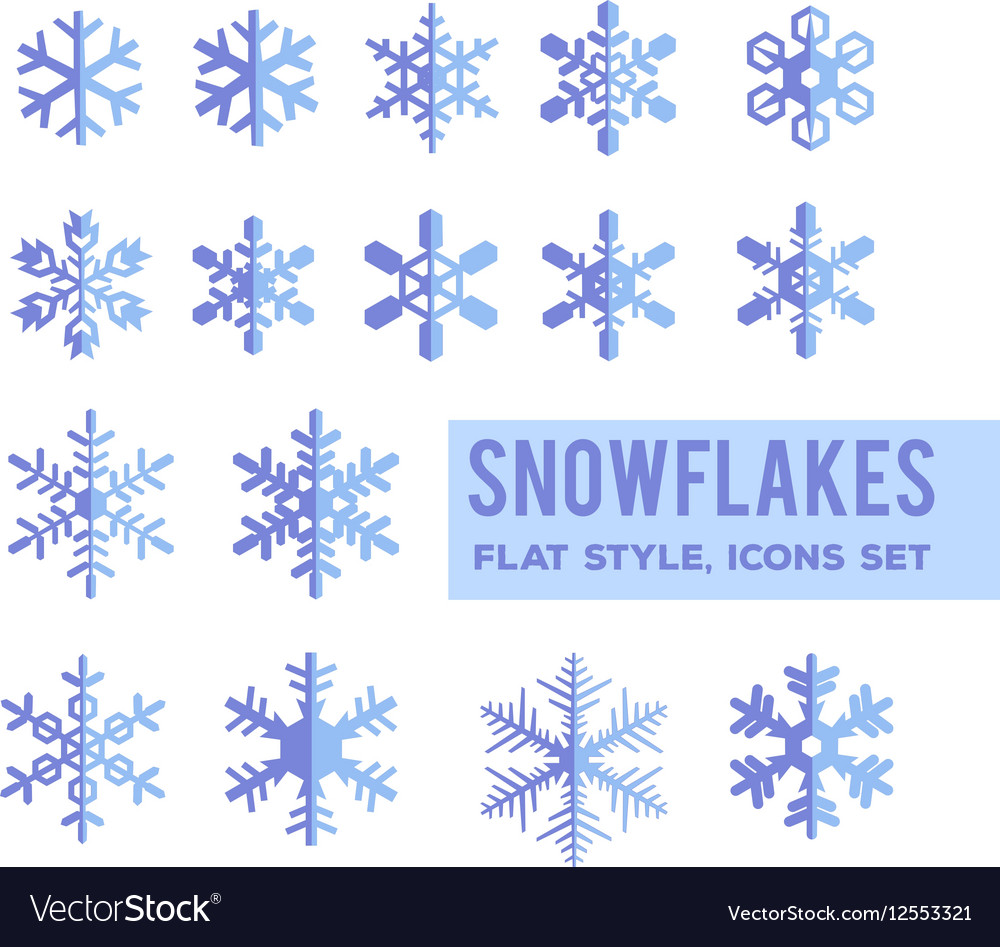 Snowflakes flat design