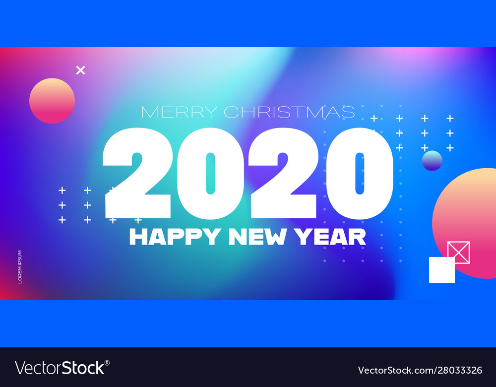 2020 happy new year merry christmas poster holiday