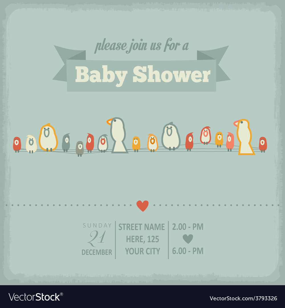 Baby shower invitation in retro style royalty free vector baby shower invitation in retro style vector image filmwisefo