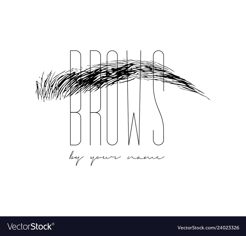 Beautiful hand drawing eyebrows for the