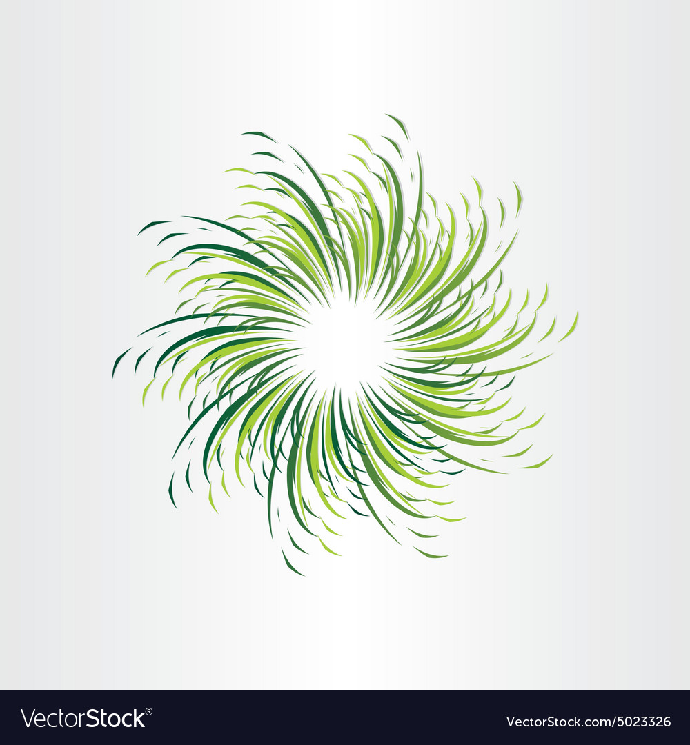 Green grass circle abstract background