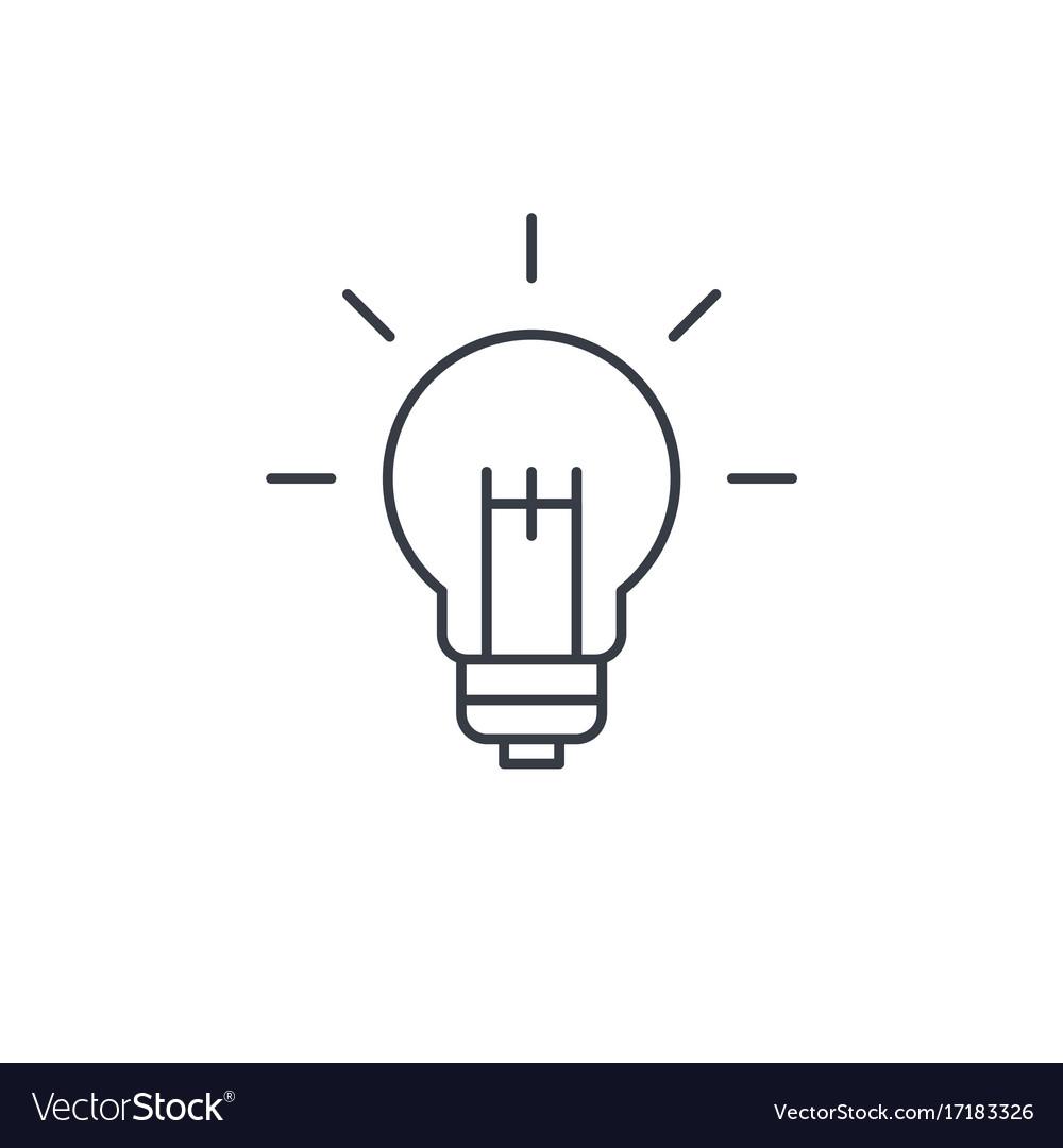 Light bulb idea thin line icon linear