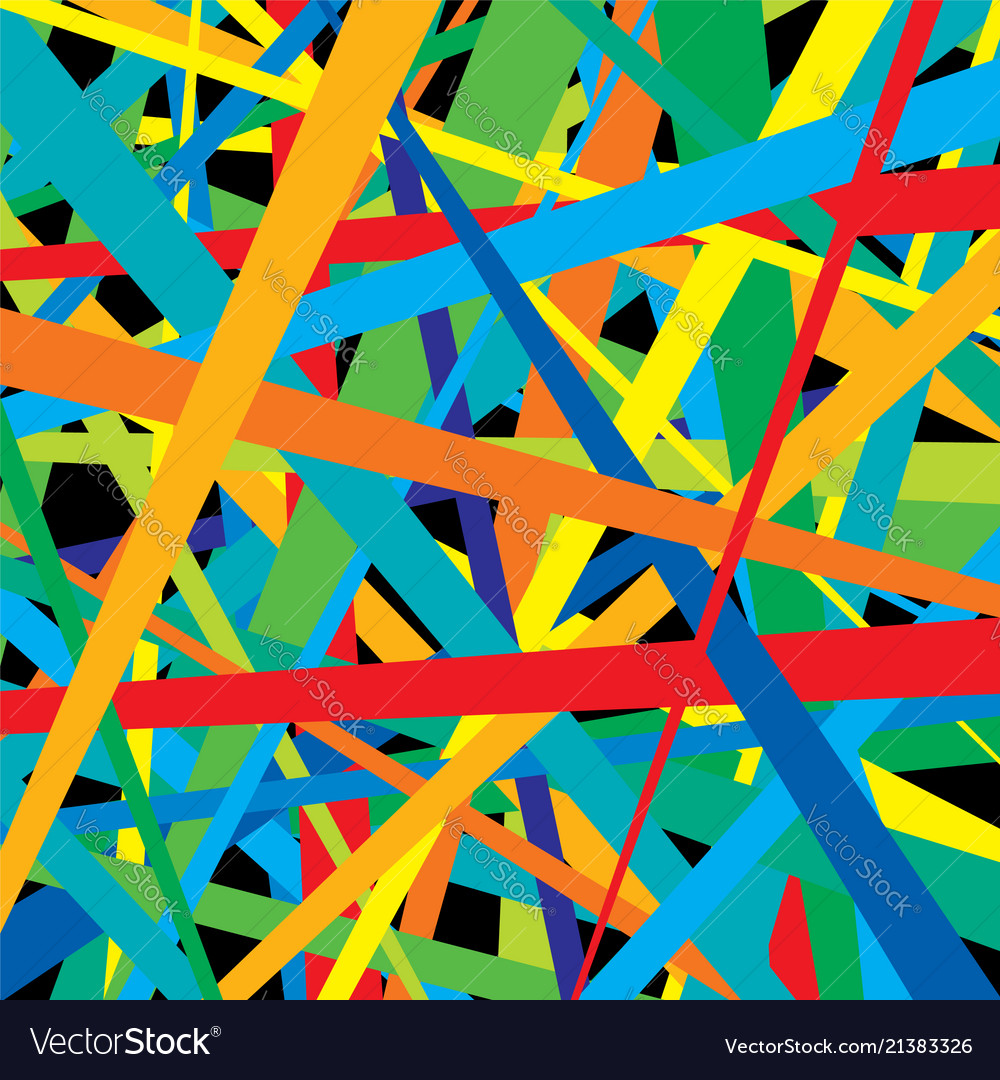 Pattern of colorful lines