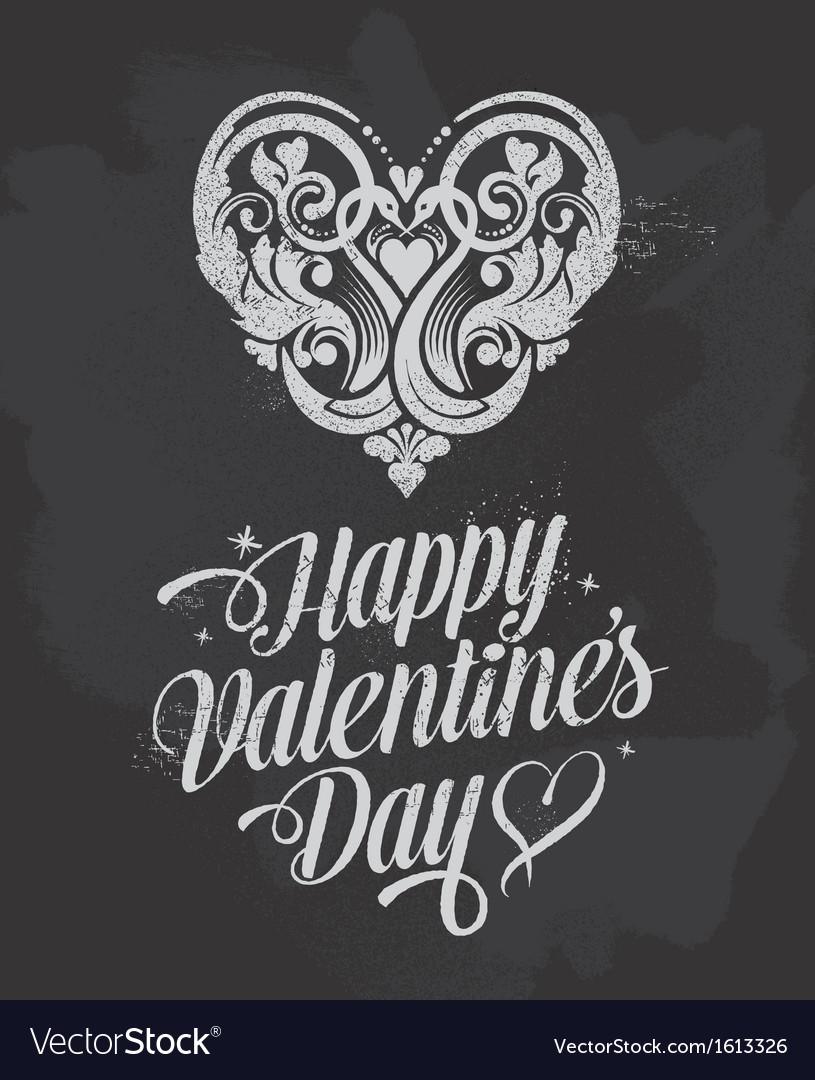Retro Chalkboard Valentines Day design