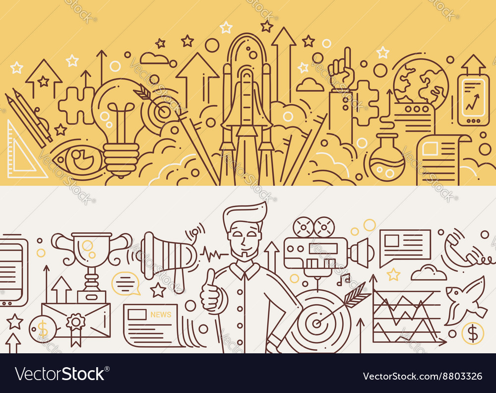 Successful startup promotion management - line