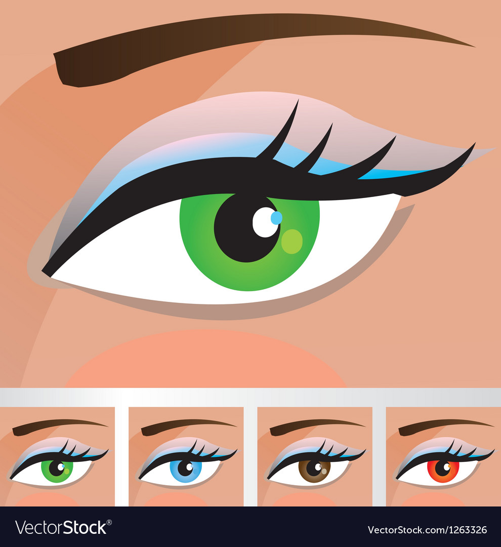 Woman eyes of different colors