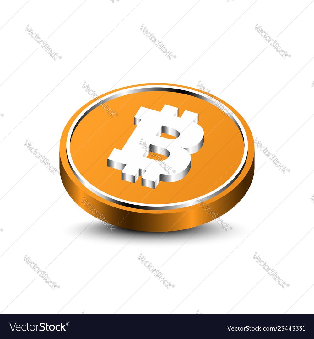 3d bitcoin isolated