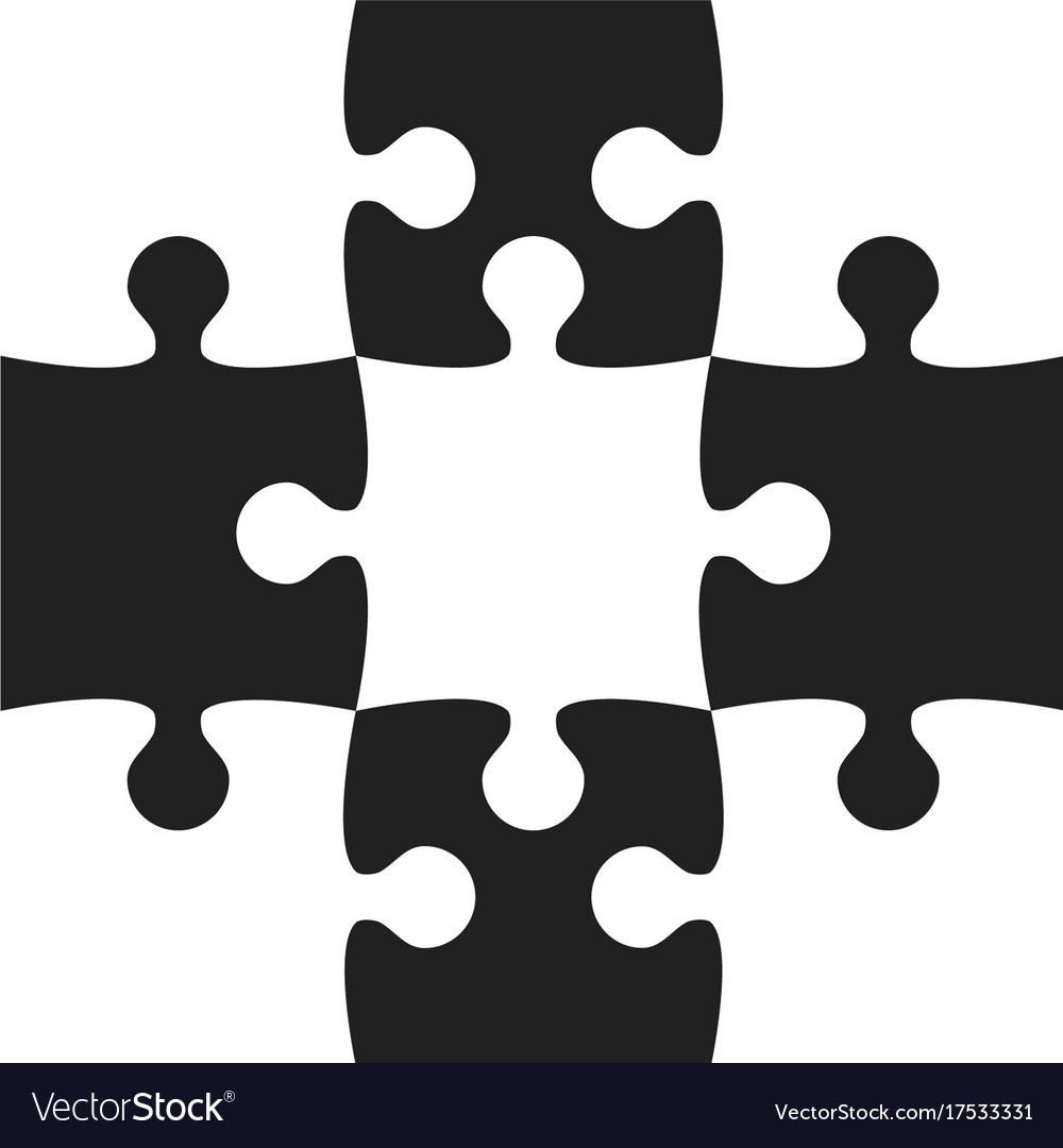 Black White Puzzle Pieces